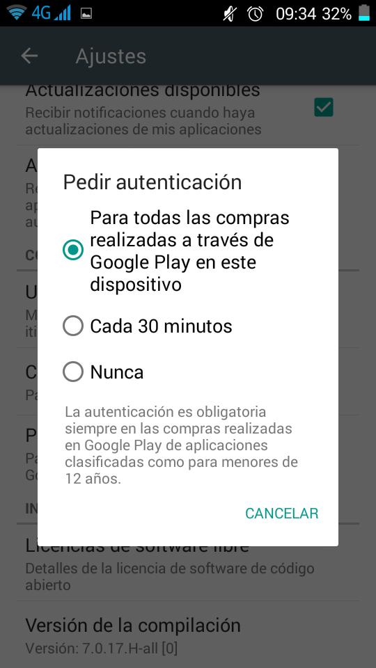 Control parental Android pedir clave para compras Primerizos Digitales